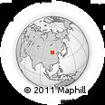 Outline Map of Baotou, rectangular outline