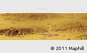 Physical Panoramic Map of Baotou