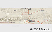 Shaded Relief Panoramic Map of Baotou