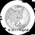 Outline Map of Har Huxu, rectangular outline
