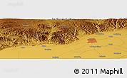 Physical Panoramic Map of Hohhot