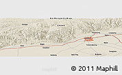 Shaded Relief Panoramic Map of Hohhot
