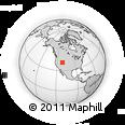 Outline Map of Coalville, rectangular outline