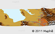 """Physical Panoramic Map of the area around 40°50'23""""N,112°7'30""""W"""