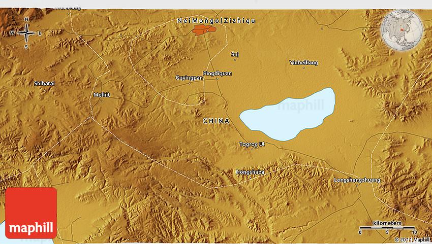 Physical D Map Of Jining - Jining map