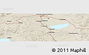 Shaded Relief Panoramic Map of Jining