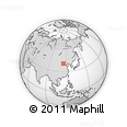 """Outline Map of the Area around 40° 50' 23"""" N, 113° 58' 29"""" E, rectangular outline"""