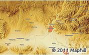 Physical Map of Zhangjiakou