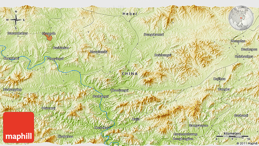 Physical D Map Of Chengde - Chengde map