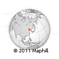 Outline Map of Qilitai, rectangular outline