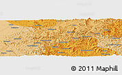 """Political Panoramic Map of the area around 40°50'23""""N,123°19'29""""E"""