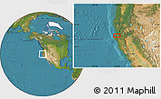 """Satellite Location Map of the area around 40°50'23""""N,124°1'30""""W"""