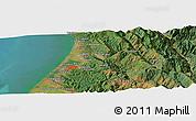 "Satellite Panoramic Map of the area around 40°50'23""N,124°1'30""W"