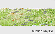 """Physical Panoramic Map of the area around 40°50'23""""N,125°1'30""""E"""