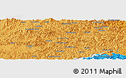 """Political Panoramic Map of the area around 40°50'23""""N,125°1'30""""E"""