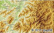 Physical Map of Kanggye