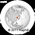 Outline Map of Kanggye, rectangular outline