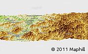 Physical Panoramic Map of Kanggye