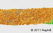 Political Panoramic Map of Kanggye