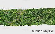 Satellite Panoramic Map of Kanggye