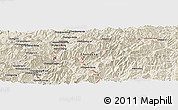 Shaded Relief Panoramic Map of Kanggye