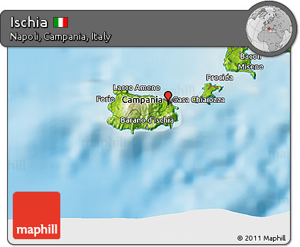 Free Physical 3d Map Of Ischia
