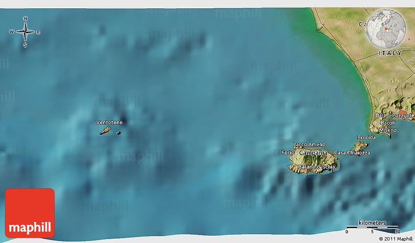 Satellite 3d Map Of Barano D Ischia