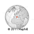 Outline Map of Via San Gennaro, rectangular outline