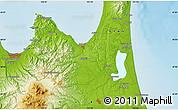 Physical Map of Aomori
