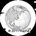 Outline Map of Aomori, rectangular outline