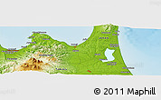 Physical Panoramic Map of Aomori