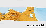 Political Panoramic Map of Aomori