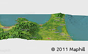 Satellite Panoramic Map of Aomori