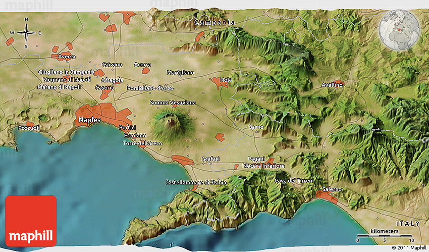 Satellite 3d Map Of Ravello