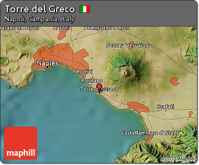 Free Satellite Map of Torre Del Greco