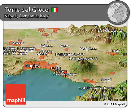 Free Satellite Panoramic Map of Torre Del Greco