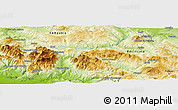 Physical Panoramic Map of Potenza