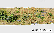 Satellite Panoramic Map of Potenza