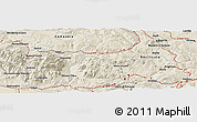 Shaded Relief Panoramic Map of Potenza