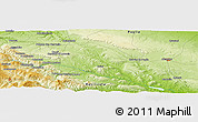 """Physical Panoramic Map of the area around 40°50'23""""N,16°13'30""""E"""