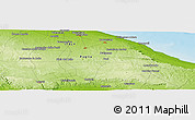 """Physical Panoramic Map of the area around 40°50'23""""N,17°4'30""""E"""