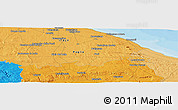 """Political Panoramic Map of the area around 40°50'23""""N,17°4'30""""E"""