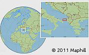 "Savanna Style Location Map of the area around 40°50'23""N,18°46'29""E"