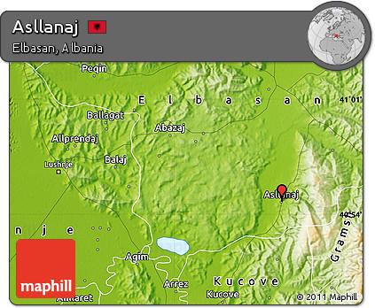 Physical Map of Asllanaj