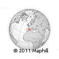 """Outline Map of the Area around 40° 50' 23"""" N, 1° 46' 29"""" E, rectangular outline"""