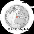 Outline Map of Calamocha, rectangular outline