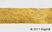 Physical Panoramic Map of Calamocha