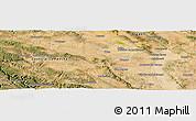 Satellite Panoramic Map of Calamocha