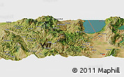 Satellite Panoramic Map of Poliçan