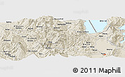 Shaded Relief Panoramic Map of Çikallesh
